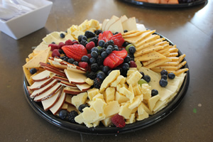 cater cheese fruits